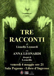 Tre racconti - Lionello Leonardi - locandina libro d'ingresso