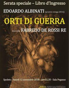 Edoardo Albinati Serate Speciali Libro d'Ingresso Spoleto