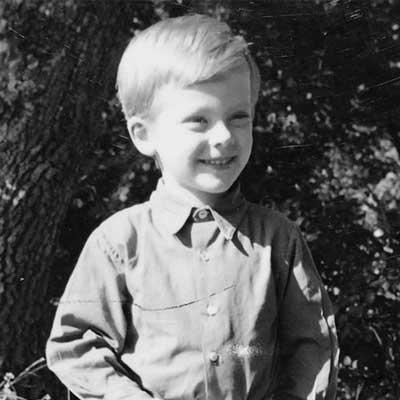 Il poeta Rutilio Clivi in una foto da bambino