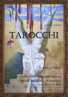 Locandina mostra Tarocchi di Adriana Sotero