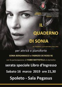 Locandina Sonia Bergamasco Serate Speciali Spoleto