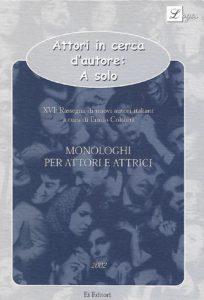 Attori in cerca d'autore - monologhi - Luis Gabriel Santiago - copertina libro
