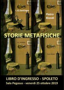 Storie metafisiche locandin Libro d'Ingresso luis Gabriel Santiago